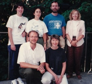 Animal Behavior Society Meeting 1994. front: Rich Buchholz and Laurie Eberhardt; back: Bonnie Ploger, Jeff Lucas and Jane Brockmann