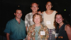 ABS 1996. Sharoni Shafir, Rich Buchholz, Jane Brockmann, Sue Chien and Cynthia Hassler
