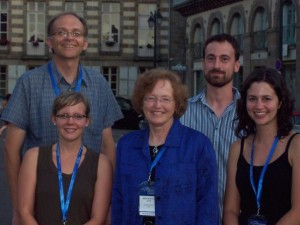 Rich Buchholz, Sheri Johnson, Jane Brockmann, Daniel Sasson and Katie Saunders at the 2010 International Ethological Conference in France