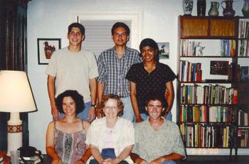 Past graduate students. Back row: Manuel Vélez, Suhel Quader, Kavita Isvaran;  Front row: Laura Sirot, Jane Brockmann and Billy Gunnels