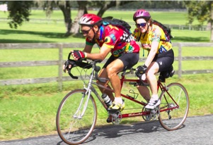 Peg & me, 100 mile bicycle race, October 2005
