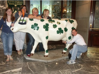 Sarah, Pam, Michele, Erin, Claudia (milking cow), ABA Chicago 2005