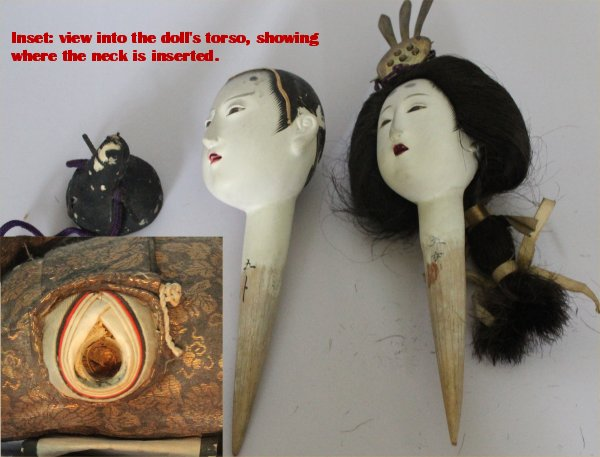 The heads are made by special artists, finished, and marked to indicate the quality of doll. Then they are inserted into the dolls' bodies.
