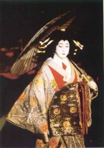 Tamasaburo Bando as an oiran.