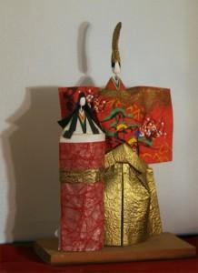 Traditional paper tachibina, emblem of hina matsuri.