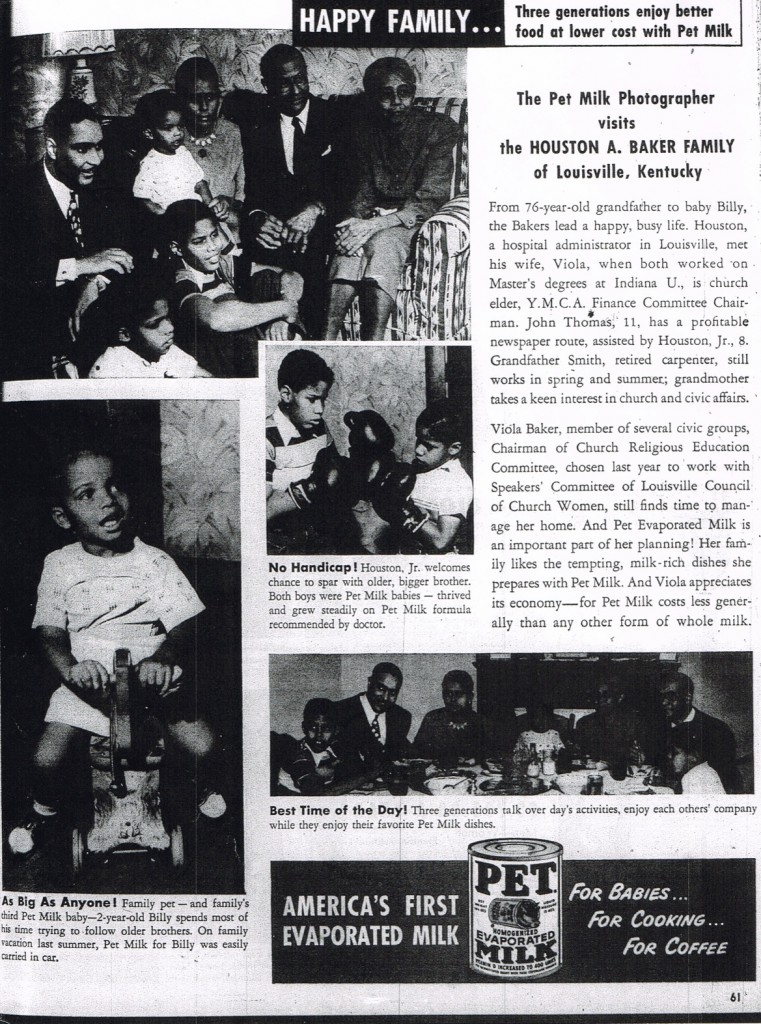 Pet Milk Ad from Ebony Magazine, 1952 (MB research files)