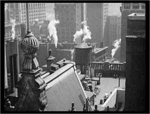 Film still from Manhatta