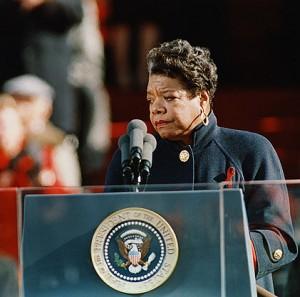 Maya Angelou at Clinton's inauguration