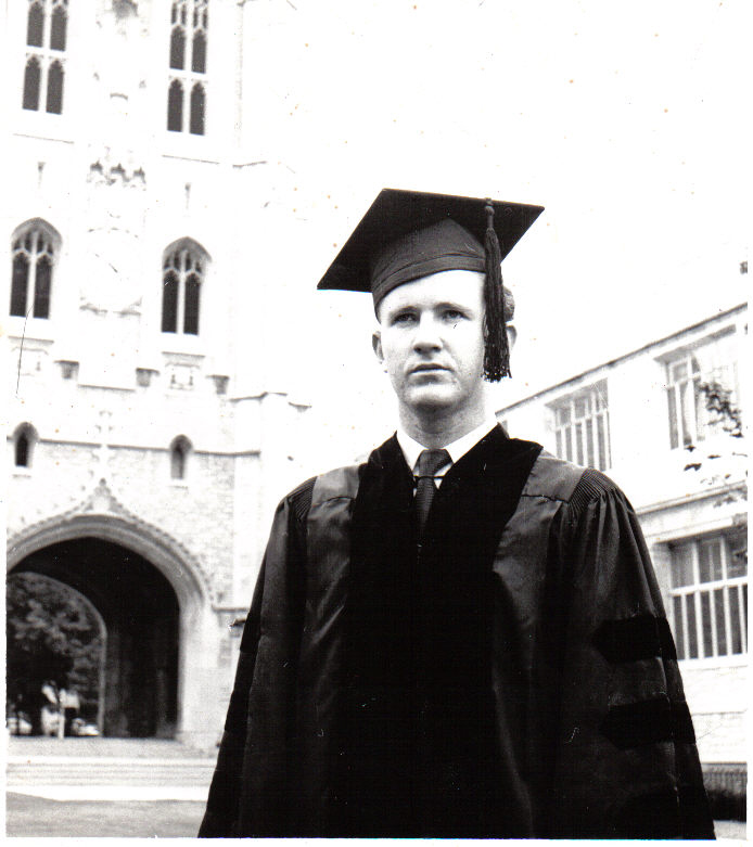 This is a picture taken of me at the University of Missouri in 1955. I had just gotten my PhD under Dr. Blumenthal